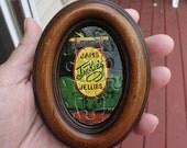 Oval Frame, Small Framed Puzzle, Charles Wysocki Art, Jackie's Jams Jellies, Primitive Rustic Wall Art, 3 x 4 Inch,