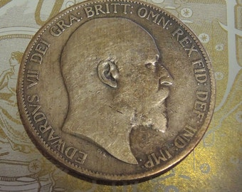 Vintage King George  1903 Large Penny, Edward VII  British Coin, Collectable Coins, Rare Coins, Copper Coins, Bronze Coins, Silver Coins