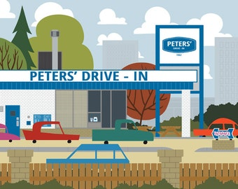 Calgary - Peters' Drivin-in | A Unique Take on Alberta's City Calgary Landmarks and Surrounding Area