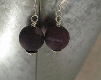 Purple Planet Earrings