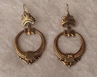 Antique 14kt Victorian earrings - beautiful elegant detail