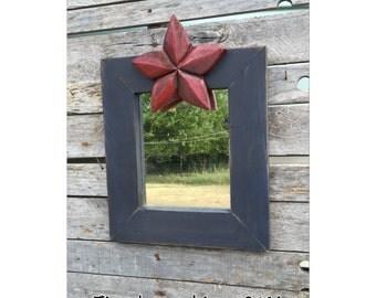 Mirror - Wall Mirror - Decorative Mirror - Rustic Mirror - Star Decor - Rustic Decor - Texas Decor - Chic