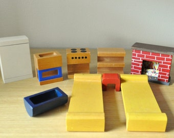 creative playthings dollhouse furniture mid century modern  finland