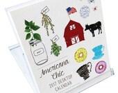 Americana Chíc 2017 Desk Calendar