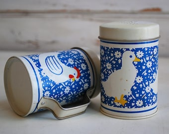 Duck and Chicken Tin Salt and Pepper Shakers