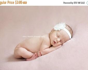 Baby Headband - Toddler Headband - Infant Headband - White Shabby Chic Rose - Photography Prop