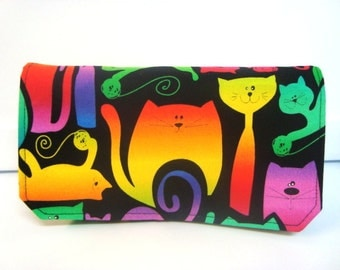 Coupon Organizer / Budget Organizer Holder - Attaches To Your Shopping Cart - Colorful Cats