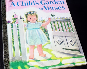 A Little Golden Book A Child's Garden of Verses by Eloise Wilkin - 1977  Twelth Printing