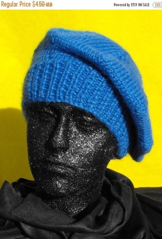 HALF PRICE SALE Instant Digital File pdf download Knitting pattern -madmonkeyknits Chunky Beret hat knitting pattern