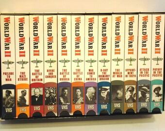 World War II - 12 Volume VHS Tape Set - Frank Capra's Award Winning Documentary WWII WW2 Veterans Day Memorial Day Remembrance Day