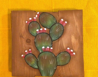 Nopal Cactus Plaque