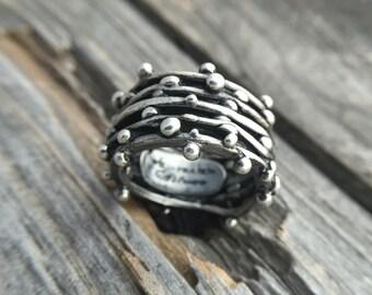 Sterling Silver Ring Handmade Wild Prairie Silver Jewelry Joy Kruse