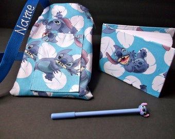 Disney Lilo and Stitch autograph book bag with book, bag and pen Personalized for FREE adjustable strap for Disney pin collection