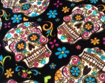 Day of the Dead Large Fleece Doggie Blanket