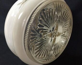 Vintage Midcentury Light Fixture Globe