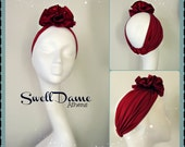 Swell Dame 1940's style turban rosette hat