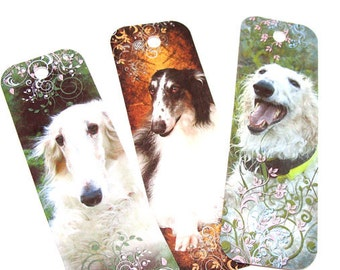 Wolfhound Bookmarks,Set Of 8,Russian Wolfhounds,Variety Books,Animal Bookmarks,Dog Bookmarks,Book Accessories,Ready to Ship,Direct Checkout