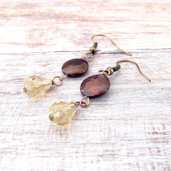 Coin Pearl Earrings - Pearl Bohemian Earrings - Victorian Earrings - Crystal Earrings - Pearl Earrings - Pearl Jewelry - Gifts for Her