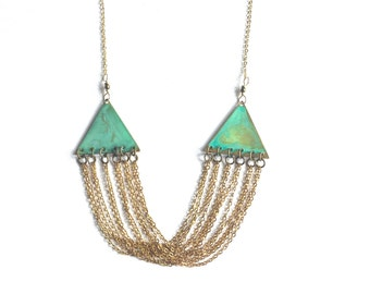 Triangle & Chains Necklace