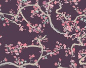 Art Gallery Fabric Enchanted Leaves Plum Wonderland Collection, Choose your cut