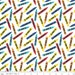 Riley Blake Fabric Crayola Colorfully Creative White Tossed Crayons, choose your cut