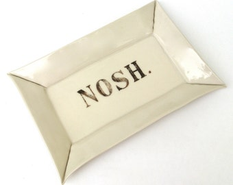 nosh   ...  hand built porcelain tray