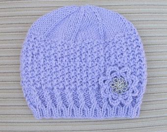 "Instant Download Knitting Pattern #220 Hat ""Arileyda"" for a Lady"