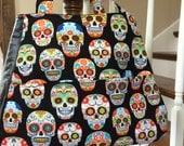 Sugar Skull Purse, Day of the Dead Handbag, Ethel Handbag in Sugar Skull Fabric