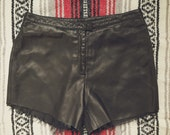Vintage Reclaimed Leather Cutoffs size 8