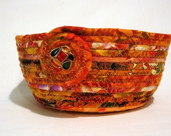 Coiled Fabric Bowl in shades of Autumn Splendor