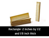 Unfinished Wood Rectangle - 2 inches tall by 1/2 inch wide and 1/8 inch thick wooden shapes (RTSQ18)