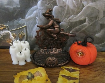 Witch Book/Scroll Stand dollhouse miniature, Halloween, spooky, haunted in 1/12 scale