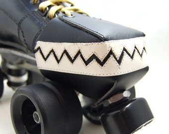 Leather Skate Toe Guards with Chompy Teeth