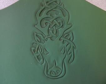 Celtic Stag leather bracers, leather armor, gauntlets, wood folk, primal