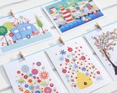 POSTCARDS - CLASSIC SET - set of 5 with envelopes