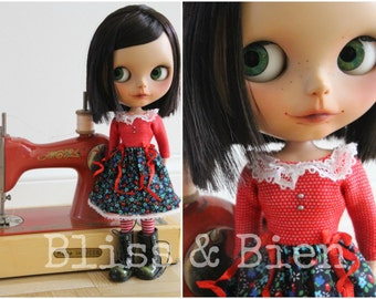 "Romantic Blythe dress ""Pomme"" for Licca or PN bodies"