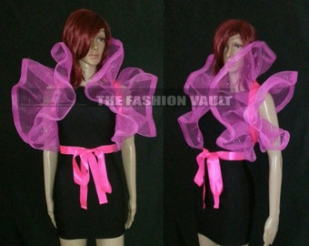 Cosplay Dramatic Burlesque Net Collar Bolero Wrap Emo PUNK  Spider plastic web Perfect for halloween costume photo prop