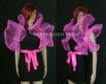 Cosplay Dramatic Burlesque Net Collar Bolero Wrap Emo PUNK