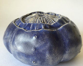 Large Purple Ceramic Sea Urchin Pod Wall
