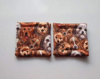 refrigerator magnets puppies dog puppy hand quilted set of 2