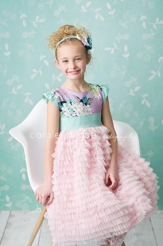 verkauf girls fr hling kleid m dchen rosa und lavendel t ll. Black Bedroom Furniture Sets. Home Design Ideas