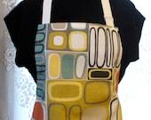 Kandinsky Mid Century Modern Art MCM Home Decor Fabric Womens Apron Full Apron Chefs Apron Adjustable Apron Covington Gold Coral Teal MTO