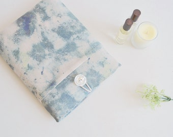"""Marble Fabric Laptop Sleeve Marble Laptop Case Custom Size 11""""-15"""" Computer Case Padded with Pocket - Marble"""