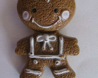 Vintage Avon 1972 Gingerbread Man brooch Pin Hand Fragrance Glace now Empty