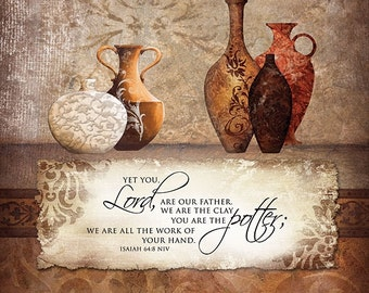 """Inspirational Wall Art, Wooden Sign,You Are The Potter,12""""x12"""""""