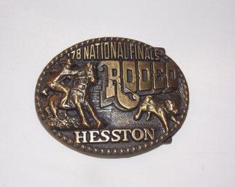 1978 National Finals Rodeo Hesston Belt Buckle