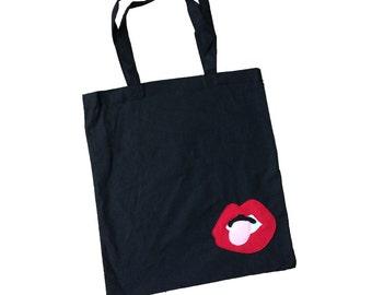 mi cielo x Donald Robertson - Lips – Black Tote Bag
