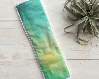 Baby Burp Cloth Surf - Ocean - Waves - Sun - Ombre Watercolor Sailboat - Boutique Baby Gift - Layette Gift - Hawaii Baby - Gender Neutral