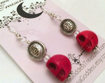 Skull Dia De Los Muertos Earrings Day of the Dead