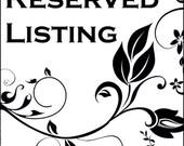 Reserved listing for Cheri